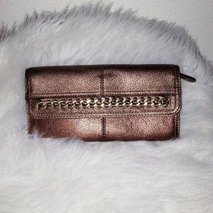 B. Makowsky metallic leather wallet